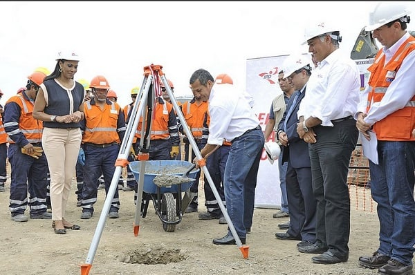 Presidente Humala coloca primera piedra del Centro de Alto Rendimiento