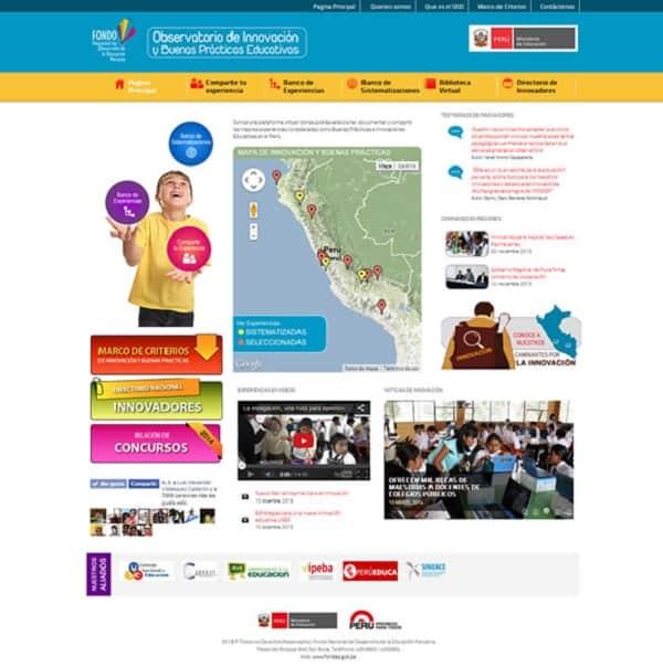 FONDEP LANZA OBSERVATORIO NACIONAL DE INNOVACIÓN Y BUENAS PRÁCTICAS EDUCATIVAS EN EL PERÚ