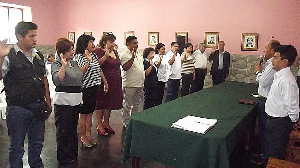 Juramentan a Comité Distrital de Seguridad Ciudadana en Laredo