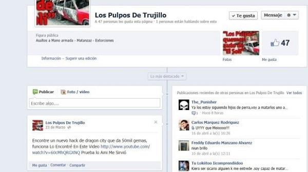 La policía identifica 17 cuentas de Facebook de sicarios