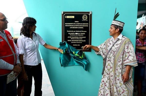Mandatario inauguró obras de mejoramiento de institución educativa en la región Huánuco