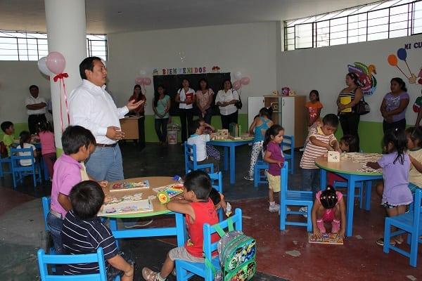 Un aproximado de 1500  niños empezaron a estudiar en jardines municipales de El Porvenir