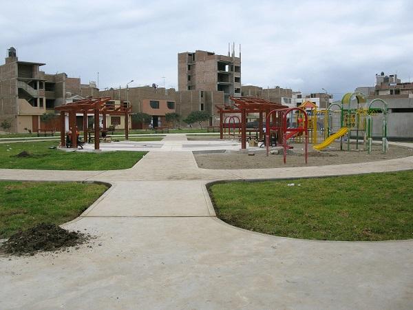 Parque Recreacional N 07 de Víctor Larco en su etapa final