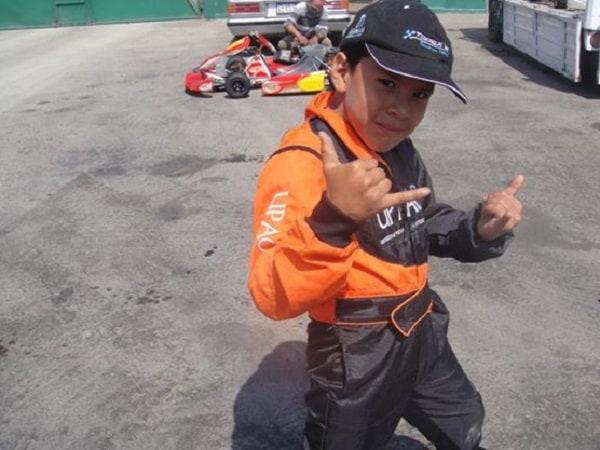 Piloto Trujillano de 13 años en el Nacional de Kartismo
