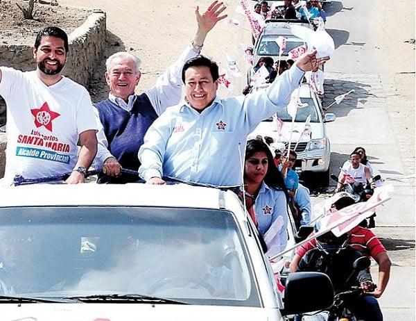 Candidatos apristas inician campaña con caravana