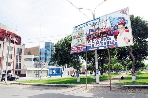 En Víctor Larco, candidatos incumplen normas sobre propaganda y publicidad
