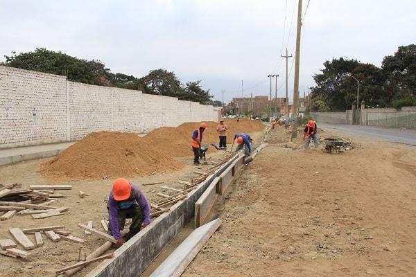 Mejoras en Av. Federico Villarreal ya tienen el 35 de avance