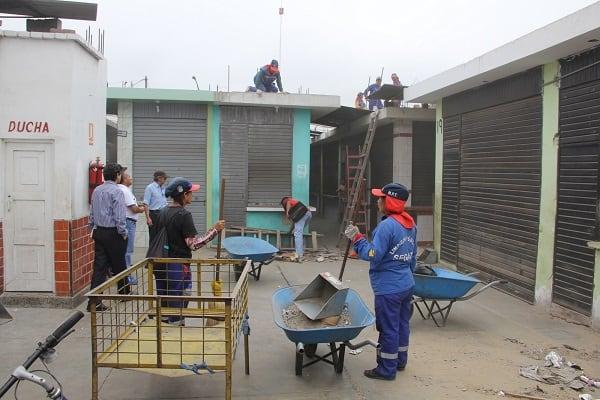 Mercado Búfalo Barreto quedó más limpio gracias a campaña del Segat