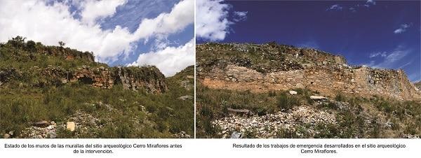 Muros arqueológicos de Cerro Miraflores recuperan su esplendor