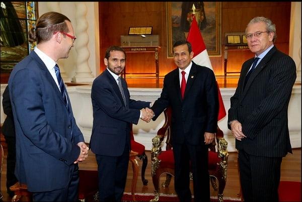 Presidente Ollanta Humala recibió en audiencia al Príncipe Mired de Jordania en Palacio de Gobierno