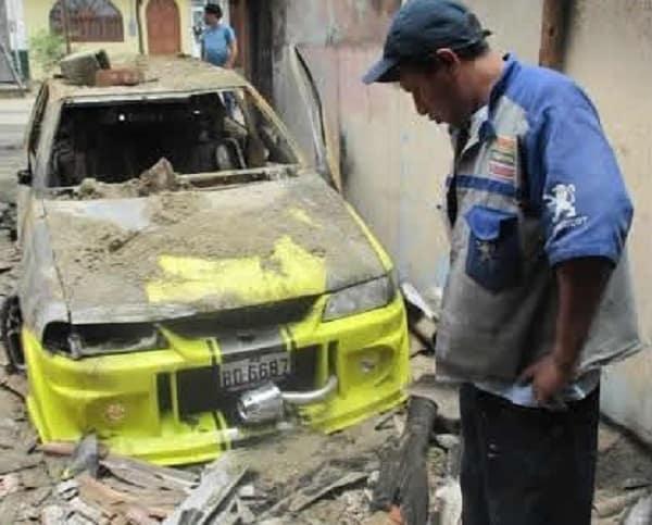 Incendio en taller en La Esperanza deja pérdidas ascendentes a 30 mil dólares