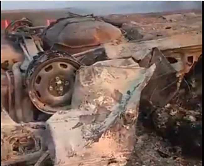Explota auto y mueren cuatro personas en Ascope (VIDEO)