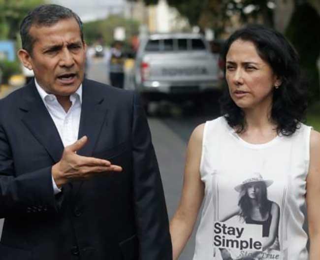 Fiscalía pide 20 años de prisión para Ollanta Humala y 26 para Nadine Heredia